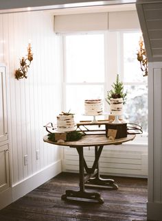 For Mom and Dad's 60th wedding anniversary... Rustic Winter Cake Table | photography by http://jacquelynnphoto.com/