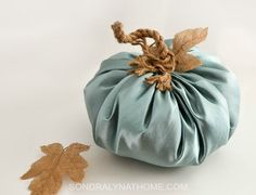 You've seen those adorable fabric pumpkins... here's where I show you how to make a fabric pumpkin! Not only that, but TWO different ways to make them!