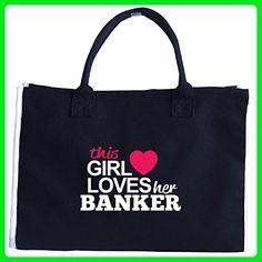 This Girl Loves Her Banker - Tote Bag - Totes (*Amazon Partner-Link)