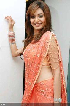 Karishma Tanna with an extra flourish!    saree blouse design bollywood saree