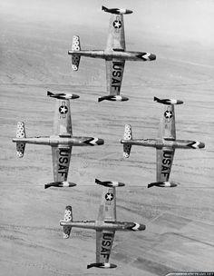 Republic F-84G Thunderjet - Thunderbirds, United States Air Force (USAF), United States.