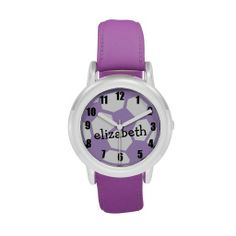 Purple Soccer Ball and Name Watches