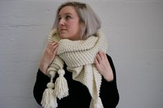 {{The Pennacook Blanket Scarf}} Chunky Knit Blanket Scarf with Tassels -Easy To Wear -Can be worn as wrap, a shawl, or as a super chunky scarf -Includes 4 adorable tassels at the corners -100% Acrylic Yarn -Super soft and cozy -One size fits all  Imagine cuddling up by the fire to read your favorite book or draping this scarf over a sweater or jacket as you take a walk. This stylish blanket scarf can do it all and is sure to keep you warm and comfortable even on the coldest days. The…