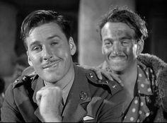 "Errol Flynn y David Niven en ""The Dawn Patrol"", 1938"
