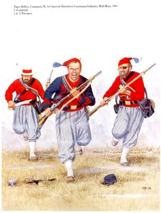 Tiger Rifles 1st Louisiana Infantry 1861 - Bull Run.