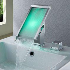Couleur contemporaine cascade LED lavabo robinet T8002-1  T8002-1  -  €179.99   Salle de bain   Robinetterie mitigeur, robinet lavabo 9a175321dd2c