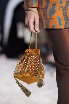 Etro - HarpersBAZAAR.com } this looks like reticule purse.  what's old is new again.