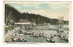 Water Sports North West ARM Halifax Nova Scotia Postcard 1919 | eBay