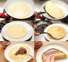 Cómo hacer crepes de Nutella paso a paso - Recetín