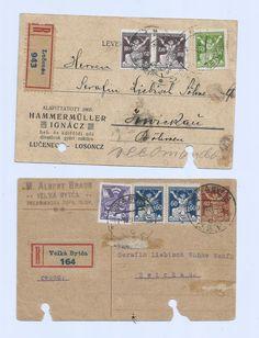 Czechoslovakia 1921 and 1922 Register Lot 2 Postal History Postcards