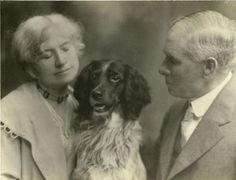 Annie Oakley, Frank Butler and their dog Dave: The Butlers often returned to Ohio where they felt at home among family. Description from pinterest.com. I searched for this on bing.com/images