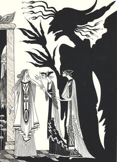 An Errol Le Cain illustration for Cupid and Psyche.