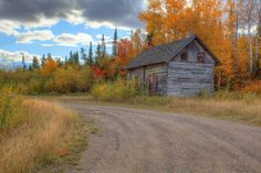 An old rustic cabin near Grand Portage stands witness to yet another changing of the seasons