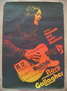 Rory Gallagher feat. Nazareth and Curtis Maldoon Concert Poster