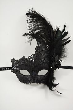 Womens Venetian Masquerade Mask Mask with Feathers & by 4everstore, $32.95