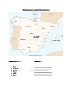 The map of Spain will help your classes transition to partner activities easily and ensure that students work with a variety of partners… Spanish Classroom Activities, Map Of Spain, Student Engagement, Student Work, Students, Home