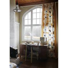 Marimekko fabrics - Buy online from Finnish Design Shop. Discover Unikko and other Marimekko fabrics for a modern home! Small Wooden Shelf, Wooden Shelves, Marimekko Fabric, Steel Sheet, Shades Of Beige, Design Shop, Curtains, Mirror, Interior