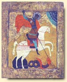 St George - exhibited at the Temple Gallery, specialists in Russian icons