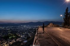 Athens Night - Pinned by Mak Khalaf City and Architecture abovearchitectureathensblueblue skybridgecitycityscapegreecelightlightslong exposurenightnight lensskystreetsunseturban by DrougoutisPhotography Night Skies, Athens, Around The Worlds, Country Roads, Sky, Architecture, Beach, Water, Cities