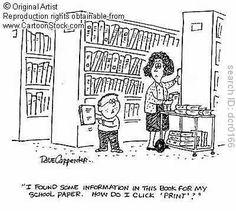 school library cartoon - Google Search