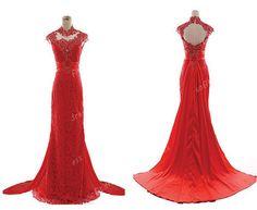 red prom dress, elegant prom dresses, cheap prom dress, long prom dress, lace prom dress, affordable prom dress, prom dresses 2014, BE0222