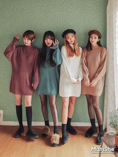 Korean Fashion – How to Dress up Korean Style – Designer Fashion Tips Ulzzang Fashion, Kpop Fashion, Asian Fashion, Girl Fashion, Fashion Outfits, Womens Fashion, Fashion Trends, Friend Outfits, Korean Outfits