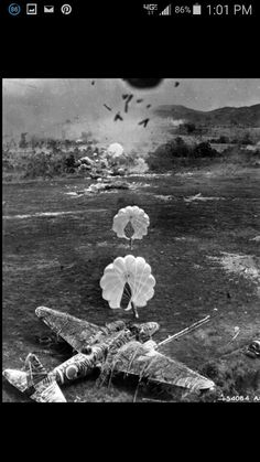 Low alt bombing, Japanese targets (hence the rising sun insignia on plane on ground)