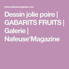 Dessin jolie poire | GABARITS FRUITS | Galerie | Nafeuse'Magazine