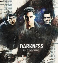 Did anyone else think of Doctor Who when they read the 'Darkness is coming' part? No? Just me? :)