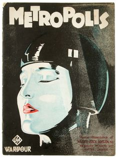 Original programme for the British premiere of Fritz Lang's Metropolis in 1927 // http://www.peterharrington.co.uk/blog/2012/07/metropolis/ //