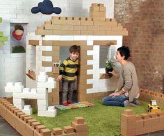 Giant Cardboard Building Blocks Cardboard Building Blocks, Giant Building Blocks, Building Toys, Cool Gadgets For Men, Lego, Diy Play Kitchen, Cardboard Toys, Cardboard Design, Build A Better World