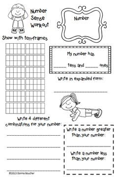 Math Coach's Corner: Number Sense Workout. Shape up your workstations with this number sense workstation activity that is easy to prep, easy for the kiddos to understand and do, is easily differentiated, and grows with the students as their skills develop. FREE!