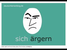 ärgern | Konjugation, Bedeutungen & Beispiele | 200 deutsche Verben (010/200) - YouTube German Language, Youtube, Art, German Words, Idioms, German Language Learning, Quotes, Pictures, Art Background