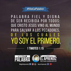 1 Timoteo 1:15  Aquél que nunca cometió pecado se hizo pecado para salvarme a mí.  #ViveLaPalabra