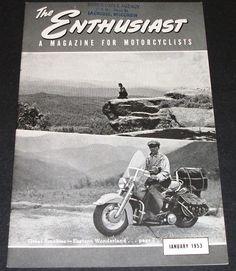 January 1953 Harley Davidson Enthusiast Magazine by hobohillfarm on Etsy