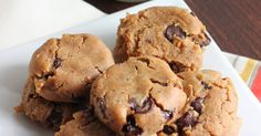 Delicious and gooey cookie dough cookies made from chickpeas.