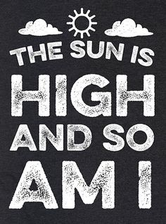 The Sun Is High and So Am I Mens/Unisex Fitted Triblend Tee http://amzn.to/2vo2X2T