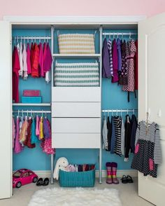 A closet inspo for you, So clean and organized!Credit to Jo Alcorn#decorforkids... - Home Decor For Kids And Interior Design Ideas for Children, Toddler Room Ideas For Boys And Girls