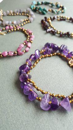 Bead Jewelry, Diy Jewelry, Gemstone Jewelry, Jewlery, Short Necklace, Beaded Necklace, Beaded Bracelets, Spiritual Jewelry, Pink Tourmaline