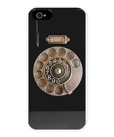 Black Rotary Phone Case for iPhone 5
