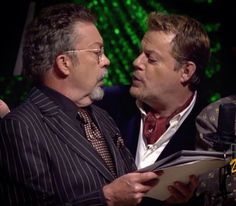 Tim Curry and Eddie Izzard Eddie Izzard, English Love, Tim Curry, Weak In The Knees, Man Crush Monday, Rocky Horror Picture Show, Creepy Clown, Man Humor, Gorgeous Men