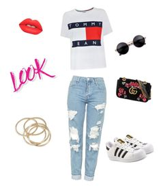 """""""Chic Urbano"""" by jeflores-1 ❤ liked on Polyvore featuring Tommy Hilfiger, Topshop, Gucci, adidas Originals, NYX, Lime Crime and ABS by Allen Schwartz"""