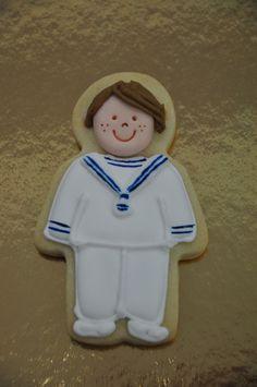 galleta de niño de comunión, marinero