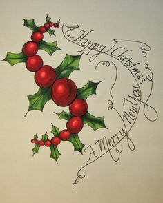 1 Art Lady Kate, Tangles and More: Merry Happy Challenge # 148
