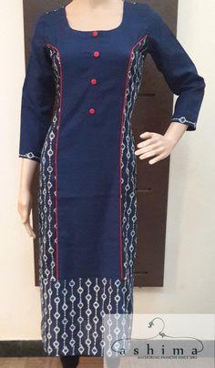 Code:2803170 - Block Printed Cotton Kurti, Price INR:1390/-