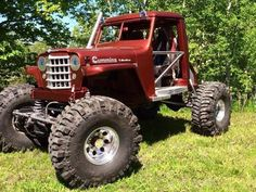 Jeep with a Cummings Jeep Pickup, Jeep 4x4, Jeep Truck, Cool Trucks, Big Trucks, Jeep Willis, Redneck Trucks, Willys Wagon, Badass Jeep