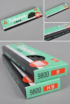 Mitsubishi 9800 Pencils #packaging