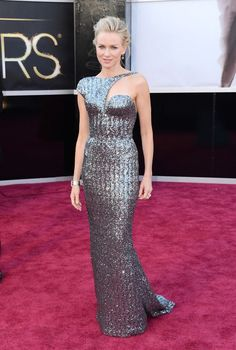 Naomi Watts in Armani Privé dress. #Oscars 2013 red carpet.