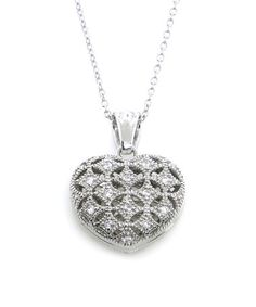 Loving this Sterling Silver Heart Pendant Necklace with Swarovski® Crystals on #zulily! #zulilyfinds