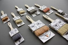 Funny brush packaging design by Poilus